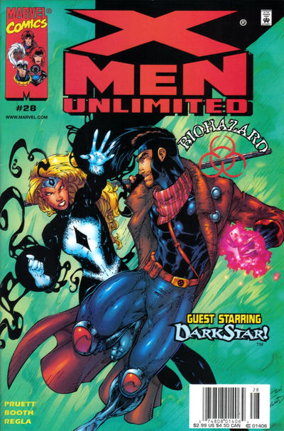 Cover for X-Men Unlimited (Marvel, 1993 series) #28 [Newsstand Edition]