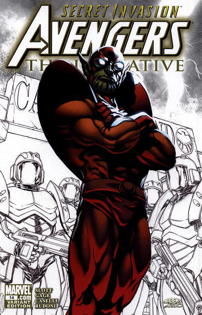 Cover for Avengers: The Initiative (Marvel, 2007 series) #14 [Variant Cover]