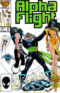 Cover Thumbnail for Alpha Flight (Marvel, 1983 series) #37 [Direct Edition]