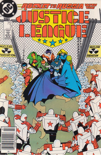 Cover for Justice League (DC, 1987 series) #3 [Newsstand]
