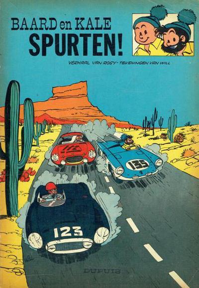 Cover for Baard en Kale (Dupuis, 1954 series) #7 - Spurten!