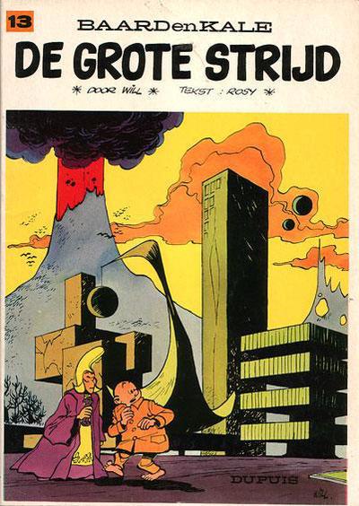 Cover for Baard en Kale (Dupuis, 1954 series) #13 - De grote strijd [Eerste druk]