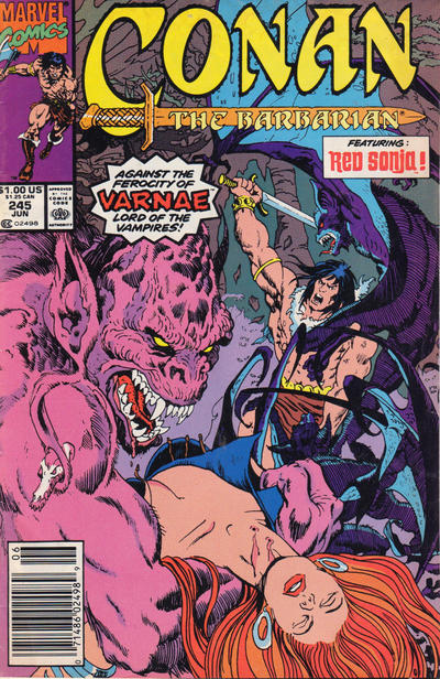 Cover for Conan the Barbarian (Marvel, 1970 series) #245 [Direct Edition]