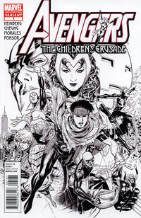 Cover Thumbnail for Avengers: The Children's Crusade (Marvel, 2010 series) #1 [Black-and-White Variant]