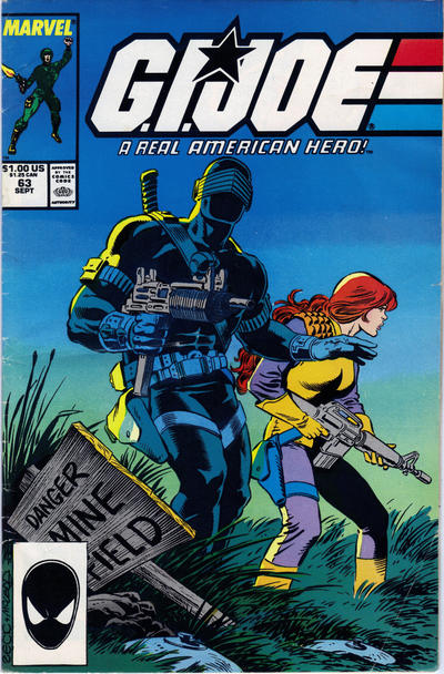 Cover for G.I. Joe, A Real American Hero (Marvel, 1982 series) #63 [Direct Edition]