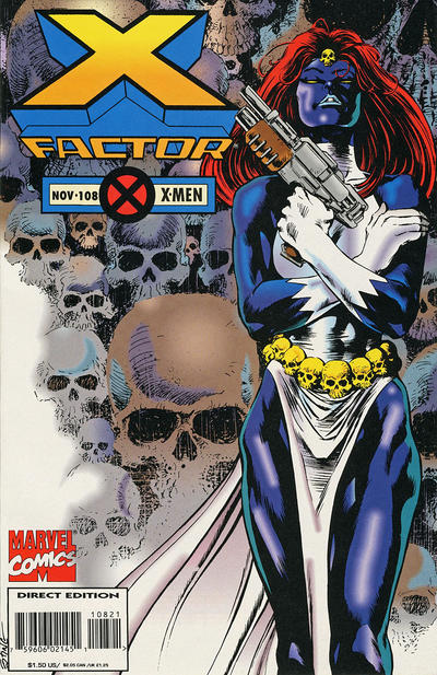 Cover for X-Factor (Marvel, 1986 series) #108 [Deluxe Direct Edition]
