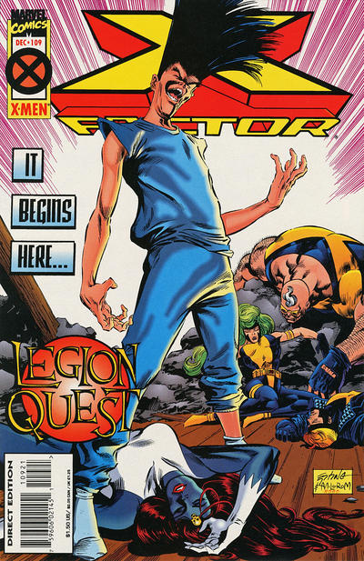 Cover for X-Factor (Marvel, 1986 series) #109 [Deluxe Direct Edition]