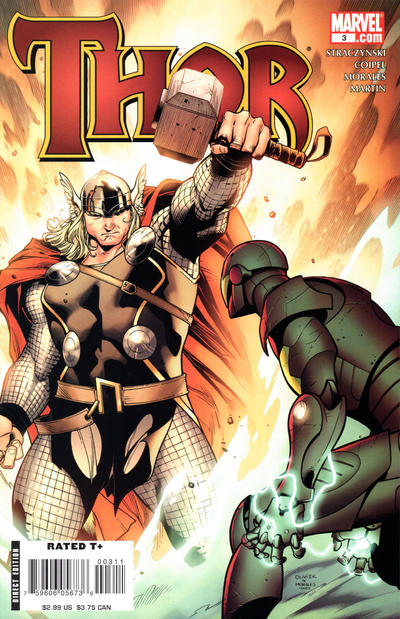 Cover for Thor (Marvel, 2007 series) #3