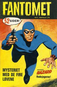 Cover for Fantomet (Romanforlaget, 1966 series) #4/1969
