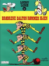 Cover Thumbnail for Lucky Luke (Hjemmet / Egmont, 1991 series) #34 - Brødrene Dalton rømmer igjen [3. opplag]