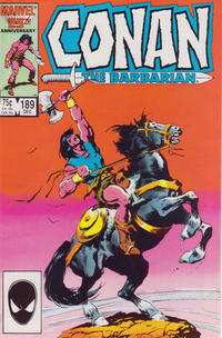 Cover Thumbnail for Conan the Barbarian (Marvel, 1970 series) #189 [Direct Edition]