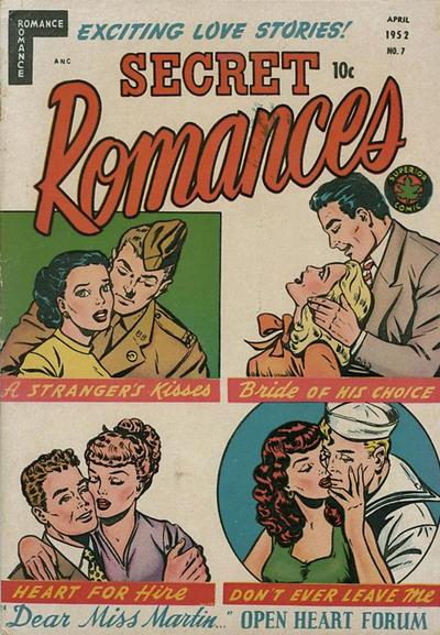 Cover for Secret Romances (Superior Publishers Limited, 1951 series) #7
