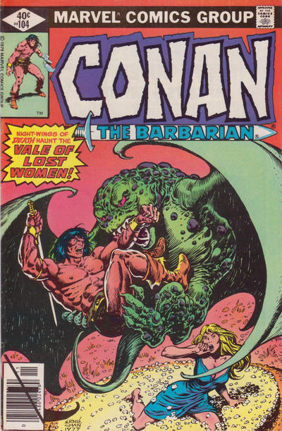 Cover for Conan the Barbarian (Marvel, 1970 series) #104 [Direct Edition]