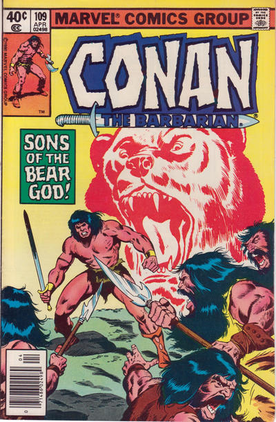 Cover for Conan the Barbarian (Marvel, 1970 series) #109 [Newsstand Edition]
