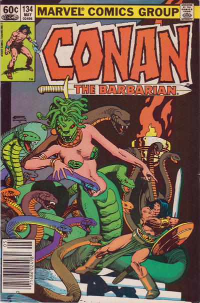 Cover for Conan the Barbarian (Marvel, 1970 series) #134 [Direct Edition]