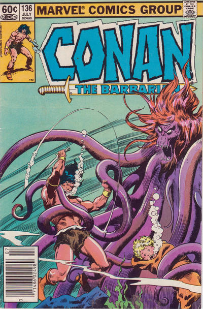 Cover for Conan the Barbarian (Marvel, 1970 series) #136 [Direct Edition]
