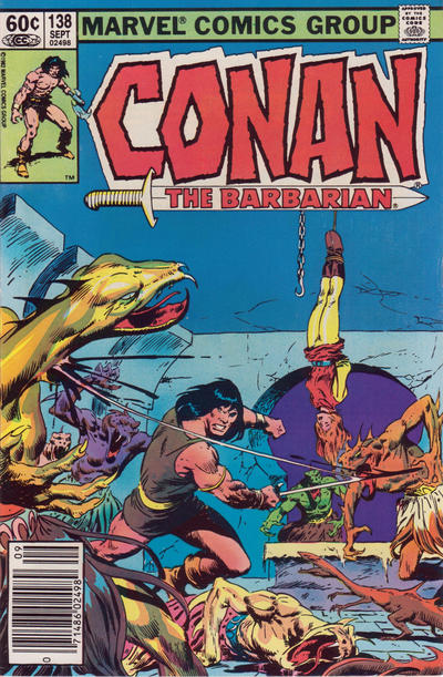 Cover for Conan the Barbarian (Marvel, 1970 series) #138 [Newsstand]