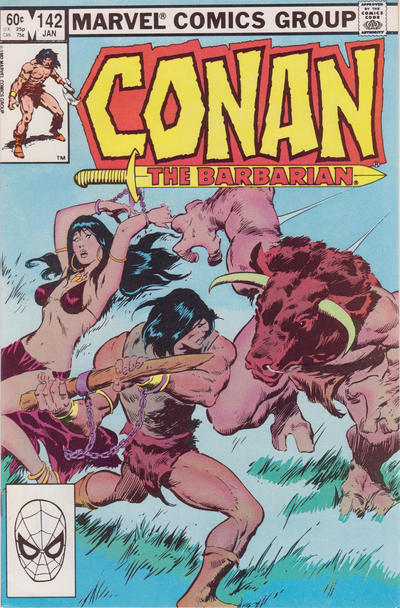 Cover for Conan the Barbarian (Marvel, 1970 series) #142 [Direct Edition]