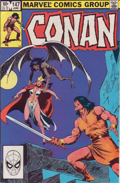 Cover for Conan the Barbarian (Marvel, 1970 series) #147 [Canadian Newsstand Edition]