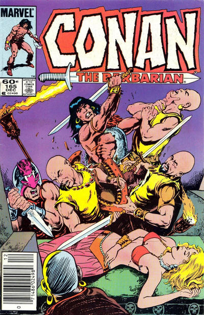 Cover for Conan the Barbarian (Marvel, 1970 series) #165 [Direct Edition]