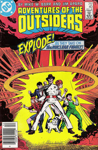 Cover Thumbnail for Adventures of the Outsiders (DC, 1986 series) #40 [Newsstand]