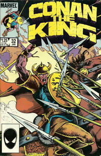 Cover Thumbnail for Conan the King (Marvel, 1984 series) #32 [Direct Edition]