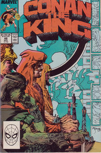 Cover Thumbnail for Conan the King (Marvel, 1984 series) #49 [Direct Edition]