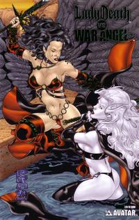 Cover Thumbnail for Brian Pulido's Lady Death vs War Angel (Avatar Press, 2006 series) #1 [Platinum Foil]