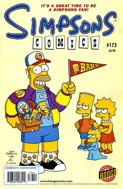 Cover for Simpsons Comics (Bongo, 1993 series) #173