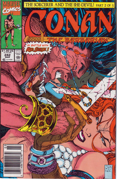 Cover for Conan the Barbarian (Marvel, 1970 series) #242 [Direct Edition]