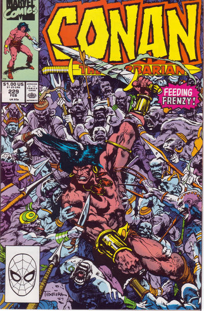 Cover for Conan the Barbarian (Marvel, 1970 series) #229 [Direct Edition]