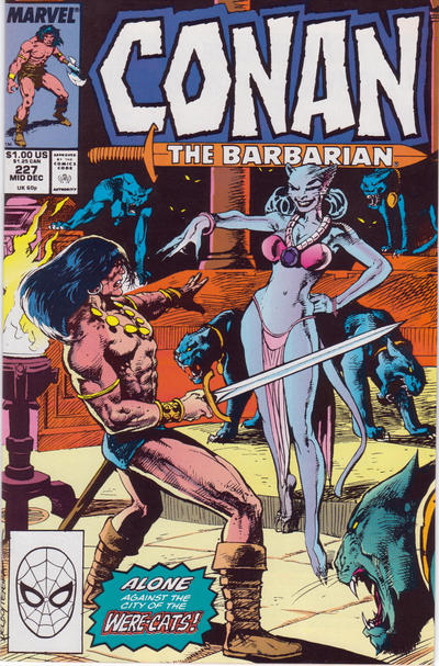 Cover for Conan the Barbarian (Marvel, 1970 series) #227 [Direct Edition]