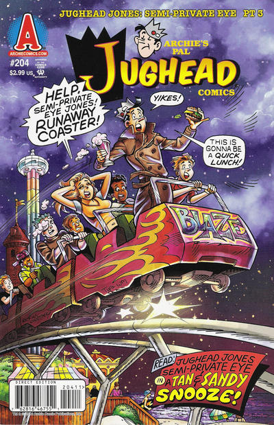 Cover for Archie's Pal Jughead Comics (Archie, 1993 series) #204