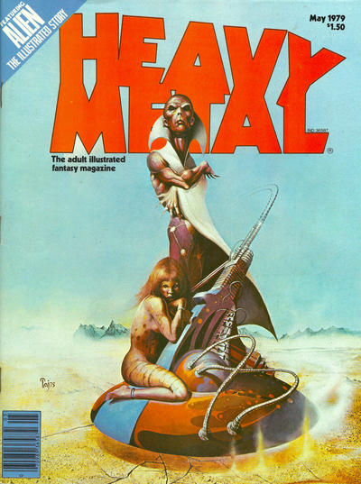 Cover for Heavy Metal Magazine (Heavy Metal, 1977 series) #v3#1 [Direct]