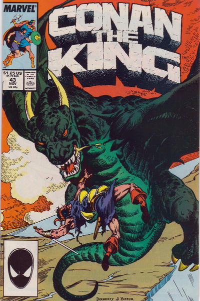 Cover for Conan the King (Marvel, 1984 series) #43 [Newsstand Edition]