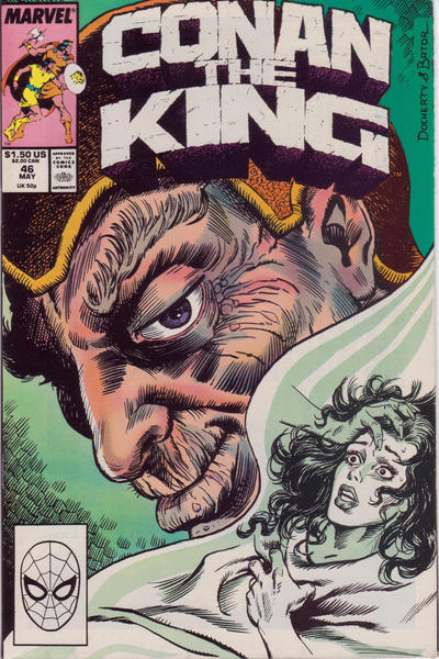 Cover for Conan the King (Marvel, 1984 series) #46 [Direct Edition]