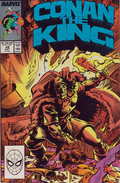 Cover for Conan the King (Marvel, 1984 series) #48 [Direct Edition]