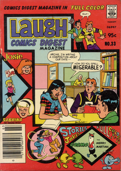 Cover for Laugh Comics Digest (Archie, 1974 series) #33