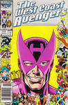 Cover for West Coast Avengers (Marvel, 1985 series) #14 [Newsstand]