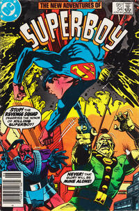 Cover Thumbnail for The New Adventures of Superboy (DC, 1980 series) #54 [Newsstand]