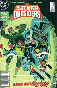 Cover for Batman and the Outsiders (DC, 1983 series) #29 [Direct Sales]
