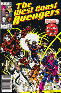 Cover Thumbnail for West Coast Avengers (Marvel, 1985 series) #1 [Canadian]