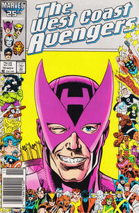 Cover for West Coast Avengers (Marvel, 1985 series) #14 [Direct Edition]