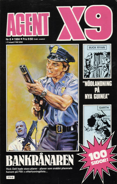 Cover for Agent X9 (Semic, 1971 series) #8/1984