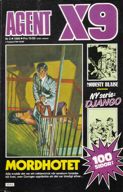Cover for Agent X9 (Semic, 1971 series) #2/1985