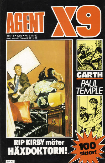 Cover for Agent X9 (Semic, 1971 series) #13/1986