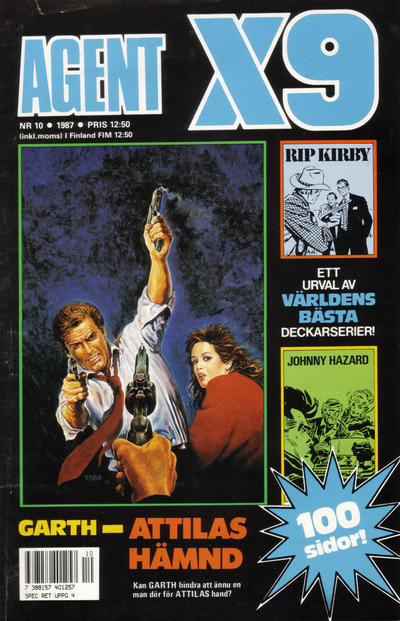Cover for Agent X9 (Semic, 1971 series) #10/1987