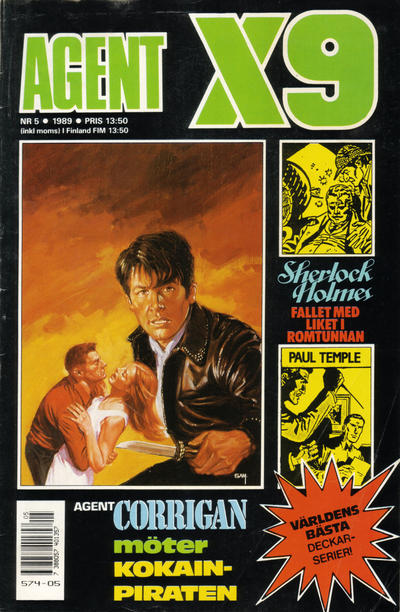 Cover for Agent X9 (Semic, 1971 series) #5/1989