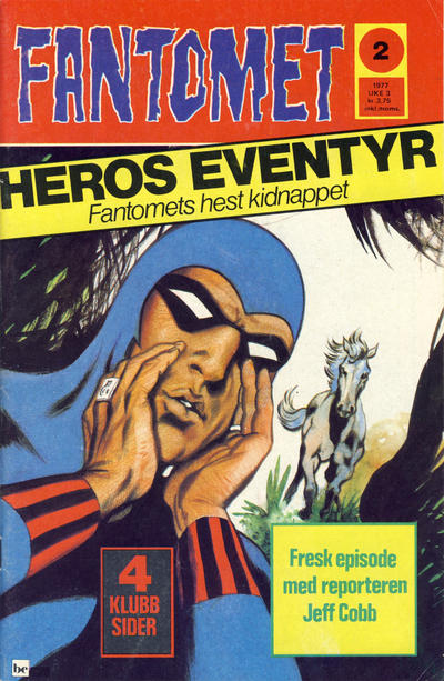 Cover for Fantomet (Semic, 1976 series) #2/1977