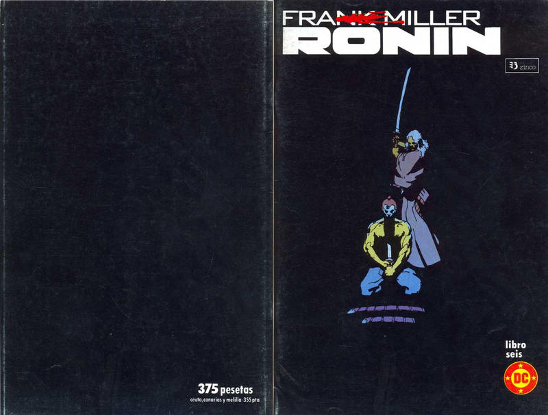 Cover for Ronin (Zinco, 1987 series) #6